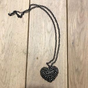 Anthropologie Metal Heart Pendant Necklace